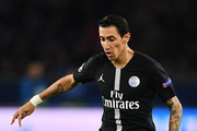 Angel Di Maria of Paris Saint-Germain during the Group C match of the UEFA Champions League between Paris Saint-Germain and SSC Napoli at Parc des Princes on October 24, 2018 in Paris, France.