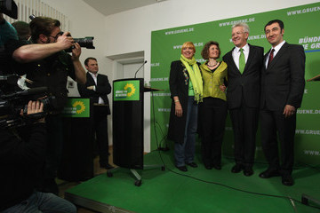 Claudia Roth Eveline Lemke Parties React To State Elections