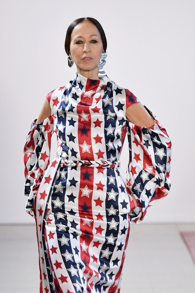 Hellessy - Runway - February 2019 - New York Fashion Week: The Shows [shows,clothing,white,pattern,fashion,costume,textile,sleeve,fashion accessory,dress,pat cleveland,hellessy - runway,runway,new york city,spring studios,new york fashion week,fashion show,the shows at gallery ii]