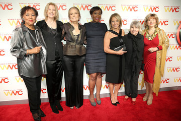 Pat Mitchell Katie Couric Arrivals at the Women's Media Awards