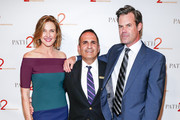 Brenda Strong, Ken Mosesian and Tuc Watkins arrive at Path2Parenthood - Illuminations LA 2016 at The Four Seasons Hotel on April 15, 2016 in Beverly Hills, California.