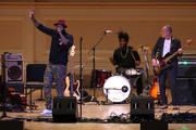Talib Kweli and Flea perform on stage during Pathway To Paris Concert For Climate Action at Carnegie Hall on November 5, 2017 in New York City.