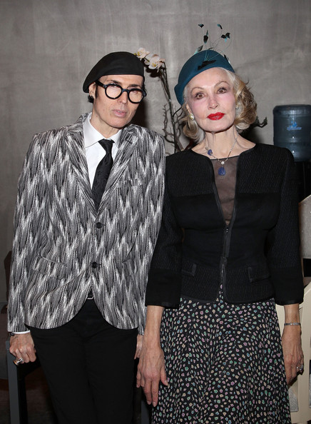 Opening Celebration Of Kimberly McDonald Los Angeles [fashion,clothing,eyewear,suit,fashion design,outerwear,formal wear,event,vision care,glasses,opening celebration of kimberly mcdonald,patrick mcdonald,julie newmar,l-r,los angeles,west hollywood,california,opening celebration of kimberly mcdonald los angeles]