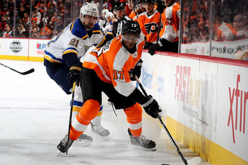 Patrik Berglund St Louis Blues v Philadelphia Flyers
