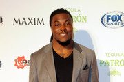 """NFL player Chris Ivory attends The Maxim Party With """"Gears of War: Judgment"""" For XBOX 360, FOX Sports & Starter Presented by Patron Tequila at Second Line Warehouse on February 1, 2013 in New Orleans, Louisiana."""