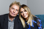 """Julien Temple and Patsy Kensit pose ahead of attending a screening and Q&A event for """"Absolute Beginners"""" at BFI Southbank on September 22, 2015 in London, England."""