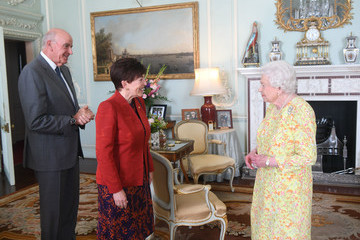 Patsy Reddy Private Audiences With The Queen At Buckingham Palace