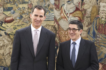 Patxi Lopez King Felipe VI of Spain Recieves Patxi Lopez