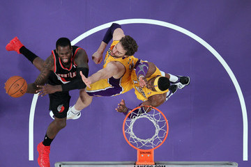 Pau Gasol Dwight Howard Portland Trail Blazers v Los Angeles Lakers
