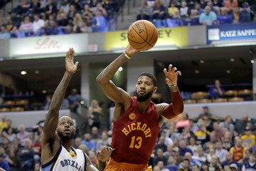 Paul George Memphis Grizzlies v Indiana Pacers