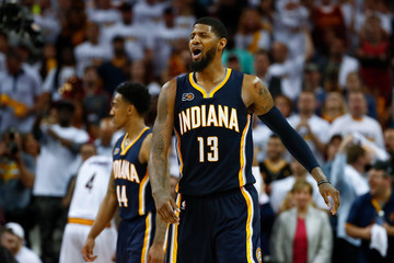 Paul George Indiana Pacers v Cleveland Cavaliers - Game Two