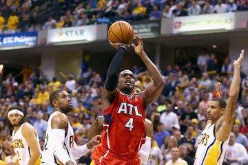 Paul Milsap Atlanta Hawks v Indiana Pacers