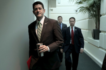 Paul Ryan House Speaker Paul Ryan and GOP House Leadership Address the Media After Their Weekly Conference Meeting