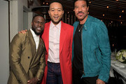 Kevin Hart, John Legend and Lionel Richie attend the Paul Smith Honors John Legend dinner on May 14, 2019 in Los Angeles, California.