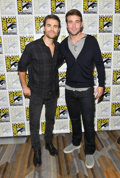 Comic-Con International 2018 - CBS Television Studios Press Line [comic-con international 2018,tell me a story,yellow,outerwear,suit,event,premiere,style,paul wesley,james wolk,press line,hilton bayfront,san diego,california,cbs television studios,l]