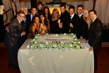 Paul Wesley Nina Dobrev The Vampire Diaries 100th Episode Celebration - Inside
