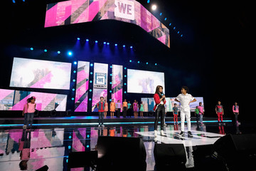Paula Abdul Celebs Attend WE Day New York Welcome to Celebrate Young People Changing the World