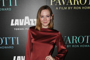 """Louisa Krause attends the """"Pavarotti"""" New York Screening at iPic Theater on May 28, 2019 in New York City."""