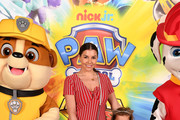 Imogen Thomas and children Ariana Siena Horsley and Siera Aleira Horsley attend the Gala screening of Paw Patrol Mighty Pups at Cineworld Leicester Square on May 12, 2019 in London, England.