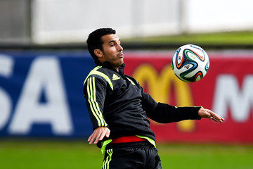 Pedro Rodriguez Spain Training & Press Conference - 2014 FIFA World Cup Brazil