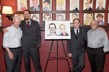 Penn Jillette Penn and Teller Honored with Sardi's Caricatures
