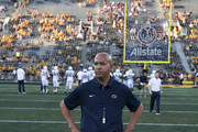 IOWA CITY, IOWA- SEPTEMBER 23:  Head coach James Franklin of the Penn State Nittany Lions before the match-up against the Iowa Hawkeyes on September 23, 2017 at Kinnick Stadium in Iowa City, Iowa.