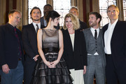 "(L-R) Rory Kinnear; Josh Hartnett; Danny Sapani; Eva Green; Billie Piper; Sam Mendes; Harry Treadaway and Timothy Dalton attend a photocall for Sky Atlantic's ""Penny Dreadful"" at St Pancras Renaissance Hotel on May 12, 2014 in London, England."