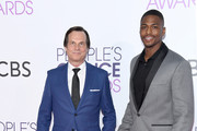 Actors Bill Paxton (L) and Justin Cornwell attend the People's Choice Awards 2017 at Microsoft Theater on January 18, 2017 in Los Angeles, California.