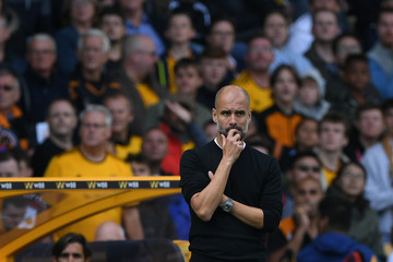 Pep Guardiola Wolverhampton Wanderers vs. Manchester City - Premier League