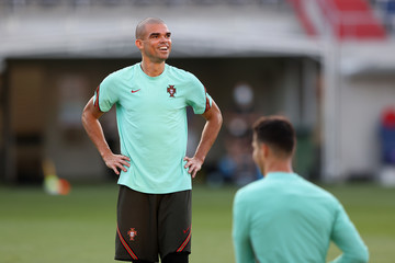 Pepe Portugal Training Session and Press Conference - UEFA Euro 2020: Group F
