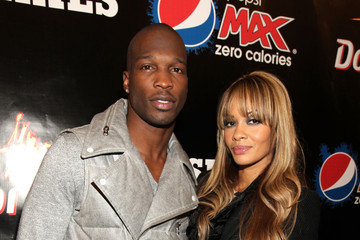 Chad Johnson Evelyn Lozada PepsiCo Super Bowl Weekend Kickoff Party Featuring Lenny Kravitz And DJ Pauly D