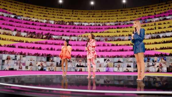 MTV EMA 2020 - Show [pink,performance,stage,sport venue,auditorium,theatre,audience,heater,arena,performing arts,audience,leigh-anne pinnock,jade thirlwall,screengrab,performance,auditorium,mtv,mtv ema,bmw m,ema 2020 - show,bmw m,performance art,audience,auditorium,sports venue,art,competition,performance]