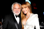 David Green(L) and Jane Seymour attend the 26th annual Elton John AIDS Foundation Academy Awards Viewing Party at The City of West Hollywood Park on March 4, 2018 in West Hollywood, California.