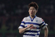 Ji-Sung Park of Queens Park Rangers in action during the preseason friendly match between Persebaya and Queens Park Rangers at Gelora Bung Tomo Stadium on July 23, 2012 in Surabaya, Indonesia.