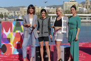 (L-R) Belen Cuesta, Macarena Garcia, Amaia Salamanca and Blanca Suarez attend 'A Pesar de Todo' photocall at Muelle Uno on March 16, 2019 in Malaga, Spain.