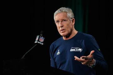Pete Carroll NFC Champion Seattle Seahawks Team Media Availability
