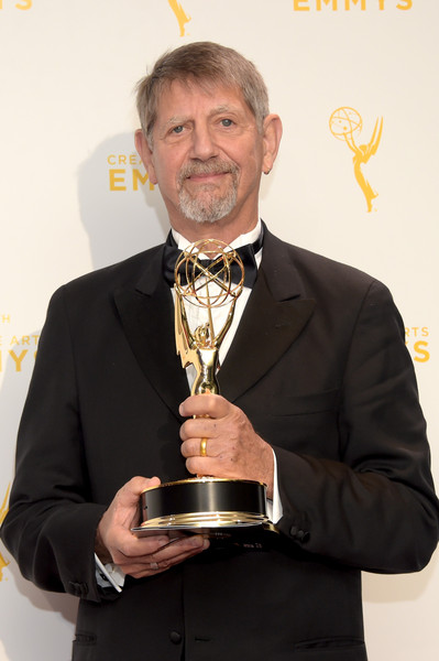 2015 Creative Arts Emmy Awards - Press Room [the roosevelts: an intimate history,award,award ceremony,suit,trophy,white-collar worker,tuxedo,formal wear,peter coyote,narrator,award,room,press room,microsoft theater,california,los angeles,creative arts emmy awards]