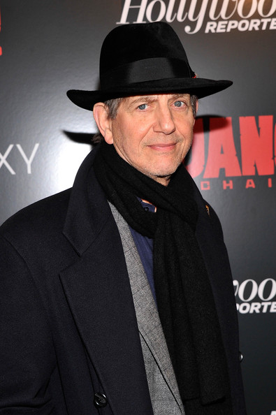 Celebs at a Screening of 'Django Unchained' [django unchained,hat,fedora,premiere,headgear,fashion accessory,suit,fictional character,costume,arrivals,peter coyote,ziegfeld theater,new york city,weinstein company with the hollywood reporter,the weinstein company,the cinema society,screening,samsung galaxy and the cinema society host a screening]