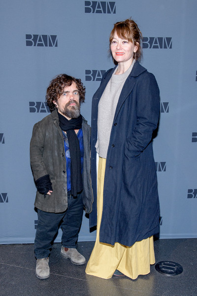 """""""Medea"""" Opening Night [premiere,fashion,outerwear,event,fashion design,carpet,flooring,jacket,performance,peter dinklage,medea,erica schmidt,new york city,bam harvey theater,medea opening night,peter dinklage,erica schmidt,game of thrones,actor,television,photograph,getty images,stock photography,celebrity]"""