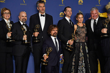 Peter Dinklage Nathalie Emmanuel 70th Emmy Awards - Press Room