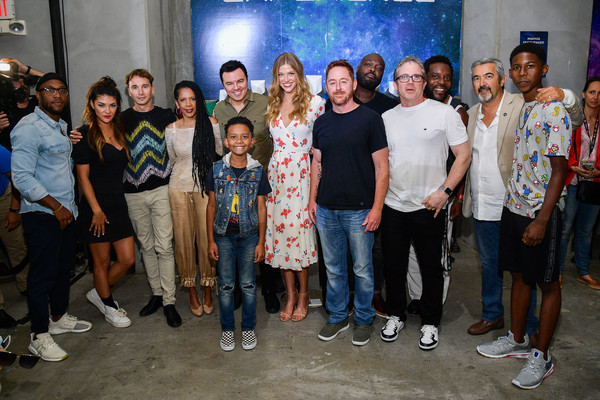 2019 Comic-Con International - General Atmosphere And Cosplay [social group,people,youth,event,community,team,leisure,performance,tourism,crowd,atmosphere,cosplay,comic-con international,j. lee,jessica szohr,scott grimes,adrianna palicki,kai wener,penny johnson jerald,seth macfarlane]