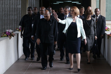 Peter O'Neill Julia Gillard Visits Papua New Guinea: Day 2