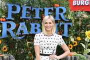 """Presenter Jenni Falconer attends the UK Gala Premiere of """"Peter Rabbit"""" at the Vue West End on March 11, 2018 in London, England."""