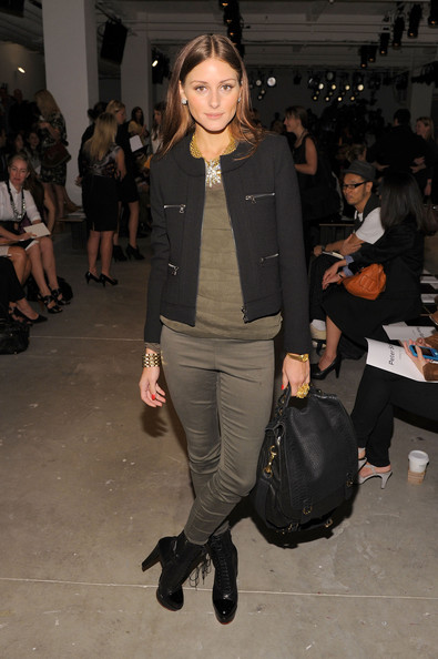 TV personality Olivia Palermo attends the Peter Som Spring 2011 fashion show during Mercedes-Benz Fashion Week at Milk Studios on September 10, 2010 in New York City.