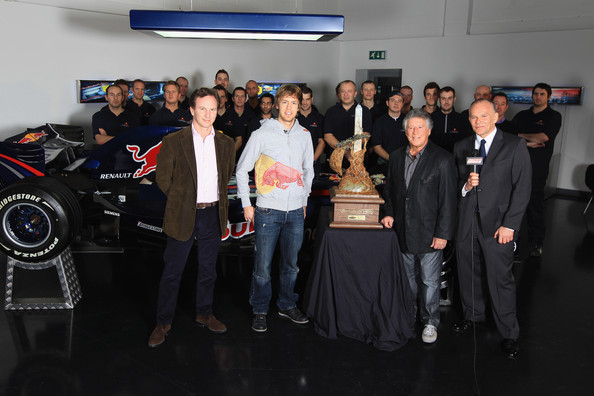 Mario Andretti visits Red Bull Racing Factory in Milton Keynes