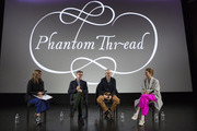 Vassi Chamberlain, Features Director at PORTER magazine, Director Paul Thomas Anderson, Daniel Day-Lewis and Vicky Krieps attend an exclusive screening and Q&A of 'Phantom Thread' hosted by Universal Pictures in partnership with PORTER at the Victoria and Albert Museum on January 27, 2018 in London, England.
