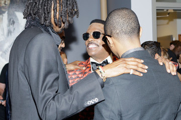 Pharrell Williams Charlie Wilson Backstage at the BET Awards
