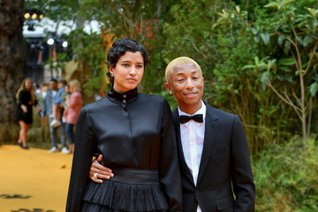 Pharrell Williams Helen Lasichanh European Premiere Of Disney's 'The Lion King'