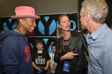 Pharrell Williams Backstage at Y100's Jingle Ball