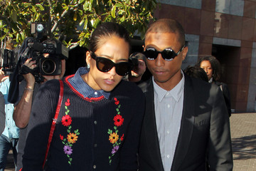 Pharrell Williams Robin Thicke and Pharrell Williams Arrive at Court